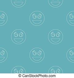 mosoly, seamless, motívum