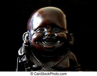 mosolygós, buddha