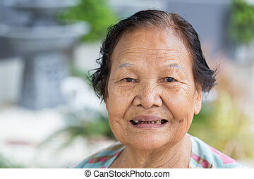 mosolygós, nők, senior felnőtt