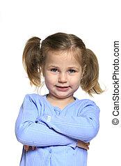 mosolyog kicsi lány