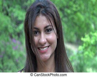 mosolyog woman, fiatal, boldog