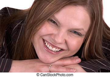 mosolyog woman, fiatal