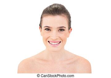 mosolyog woman, külső külső fényképezőgép