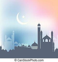 mosquées, ramadan, 2404, fond, paysage, kareem