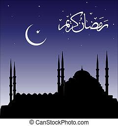 mosquées, silhouette