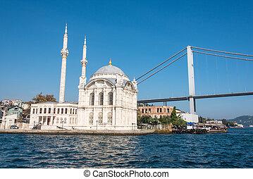 Mosque and first Bosporus bridge