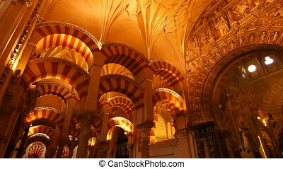 Mosque-Cathedral in Cordoba, Spain - Mezquita-Catedral -...