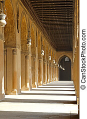 Mosque courtyard corridor