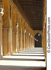 Mosque courtyard corridor