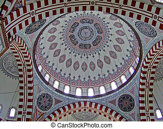 Mosque dome - Ornament on mosque dome ceiling