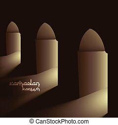 mosque doors with lights
