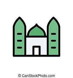 mosque flat color icon