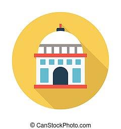 mosque flat icon