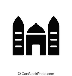 mosque glyph flat icon