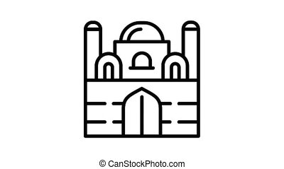 Mosque icon animation best object on white background