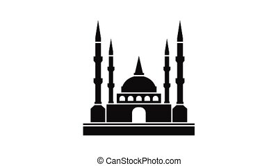 Mosque icon animation of best object isolated on white background for any design