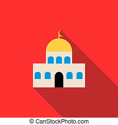 Mosque icon in flat style