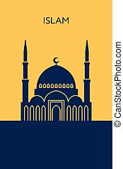 Mosque icon. Islam building - Mosque icon. Islam concept....