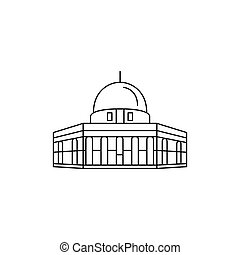 Mosque icon, outline style - Mosque icon. Outline mosque...