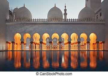Mosque in Abu Dhabi, the capital city of the United Arab...