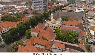 mosque in indonesia - beautiful mosque with minarets in...