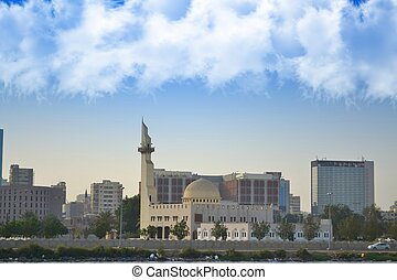 Mosque in jeddah waterfront