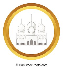 Mosque in UAE vector icon