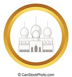 Mosque in UAE vector icon