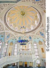 Mosque interior - Qulsharif mosque in Kazan, Russia