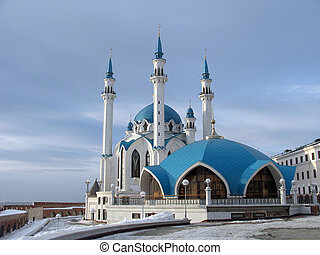 Mosque Kul-Sharif in kremlin of Kazan