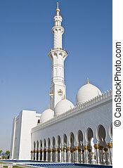 Mosque minaret - Minaret detail of a mosque