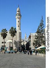 Mosque of Omar (Umar) in Manger Square, Bethlehem in Palestine