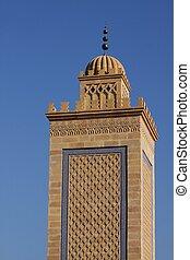 Minaret of the mosque of Saint Etienne France