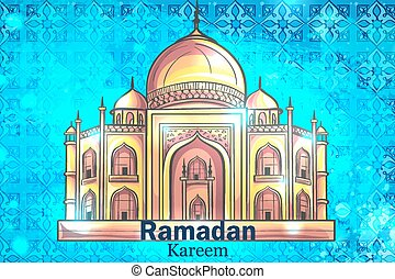 Mosque Ramadan Kareem background