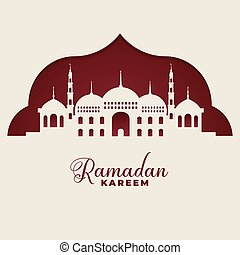 mosque silhouettes ramadan kareem islamic background