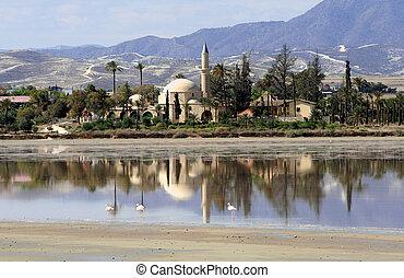Mosque - Hala sultan Tekke at Larnaca - Cyprus
