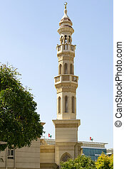 Mosque tower in middle east