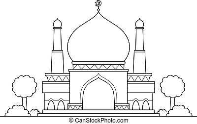 Mosque vector cartoon