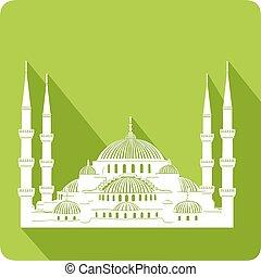 Mosque, vector illustration