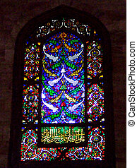 Mosque window inside