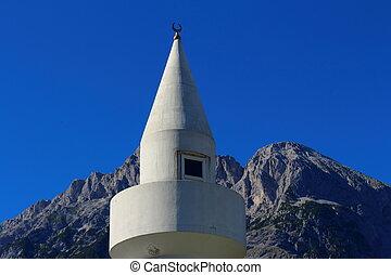 Mosque with minaret