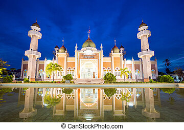 mosque with reflection