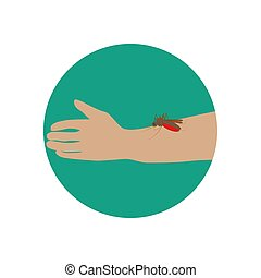 Mosquito bite illustration