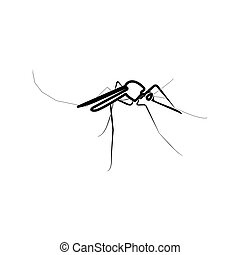 Mosquito black color icon .