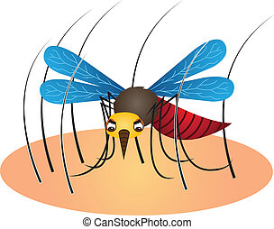 Mosquito Cartoon Illustration