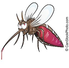 mosquito  cartoon isolated