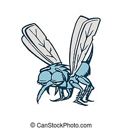 mosquito cartoon. Vector Illustration.