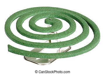 Mosquito Coil - Image of a mosquito coil.