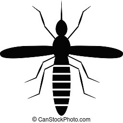mosquito icon on white background. flat style. black mosquito icon for your web site design, logo, app, UI. mosquito logo. mosquito sign.