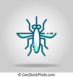 mosquito icon or logo in  twotone - Logo or symbol of ...